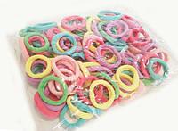 Набор нежных разноцветных резинок микрофибра 100 шт