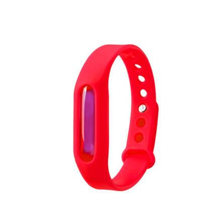 Антимоскитное средство KILNEX Силиконовый антимоскитный браслет, Красный (SUN0320), фото 2