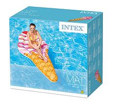Надувний матрац Intex 58762 (224х107 см.). Матрац морозиво для плавання, фото 3
