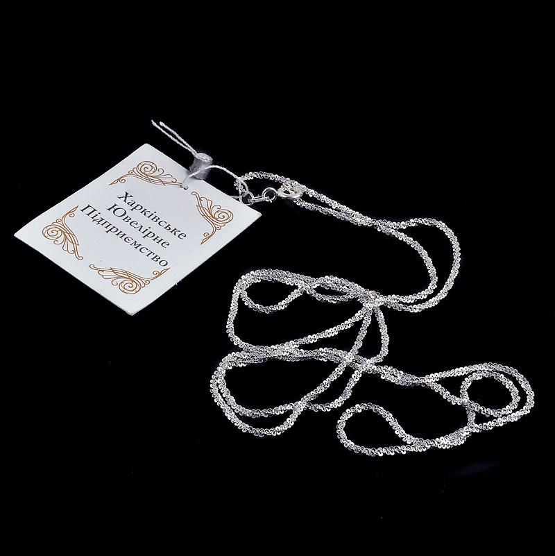 Серебряная женская цепочка Снежок 45 см