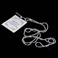 Серебряная женская цепочка Снежок 45 см, фото 1