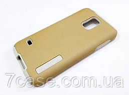 Чехол противоударный Dual Pro для Samsung Galaxy S5 G900 поликарбонат золотой