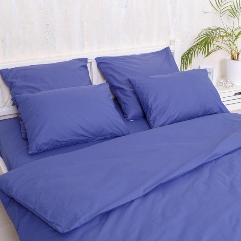 Двуспальный Евро комплект постельного белья Blue