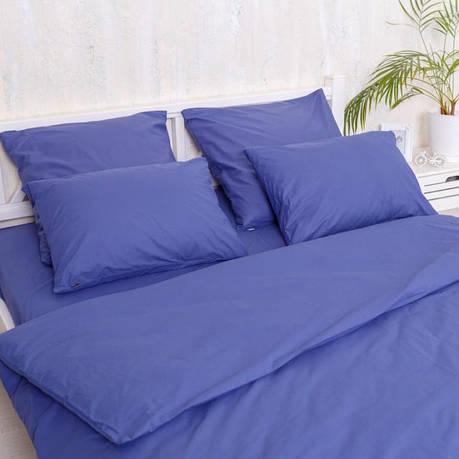 Двуспальный Евро комплект постельного белья Blue, фото 2