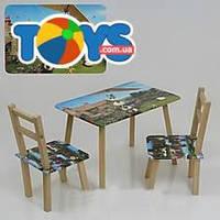 Столик и стульчики «Баранчик Шон», С068