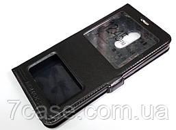 Чехол книжка с окошками momax для Xiaomi Redmi 5 Plus черный