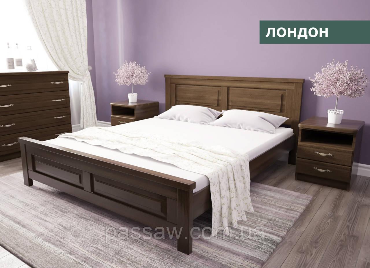 """Кровать деревянная """"Лондон"""" 1,4  ольха"""