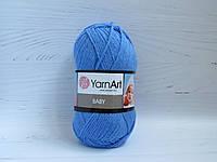 Пряжа для ручного вязания YarnArt Baby цвет 600, детский акрил для вязания одежды и игрушек, детская пряжа