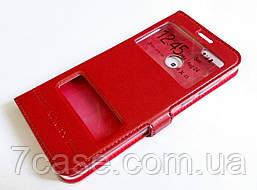 Чехол книжка с окошками momax для Huawei P smart / Enjoy 7s красный
