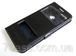 Чехол книжка с окошками momax для Huawei P smart / Enjoy 7s черный