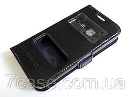 Чехол книжка с окошками momax для Samsung Galaxy J1 mini j105 черный