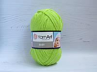 Пряжа для ручного вязания YarnArt Baby цвет 13854, детский акрил для вязания одежды и игрушек, детская пряжа