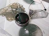 Гелиотроп, кулон с гелиотропом в серебре. Индия, фото 2