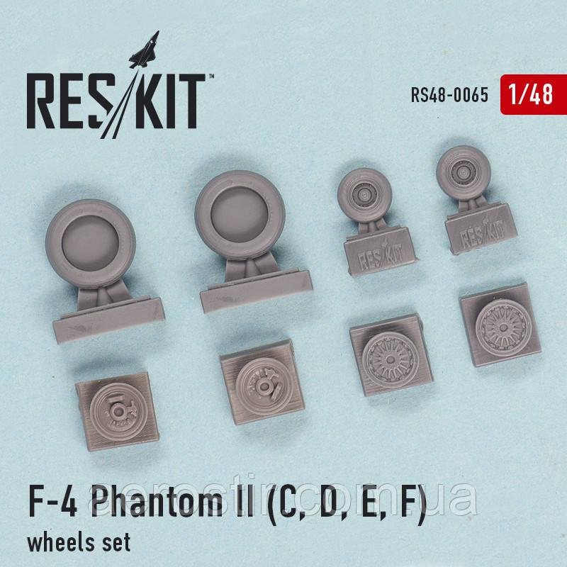 F-4 Phantom II (C, D, E, F) wheels set 1/48 RES/KIT 48-0065