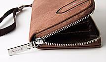 Мужской клатч портмоне BAELLERRY Jeans Young Style Мужской клатч портмоне на молнии, Коричневый (SUN0248), фото 2
