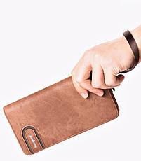 Мужской клатч портмоне BAELLERRY Jeans Young Style Мужской клатч портмоне на молнии, Коричневый (SUN0248), фото 3