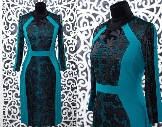"""Женское платье """"хлопок+стрейч"""" 50, 56 размер батал, фото 2"""