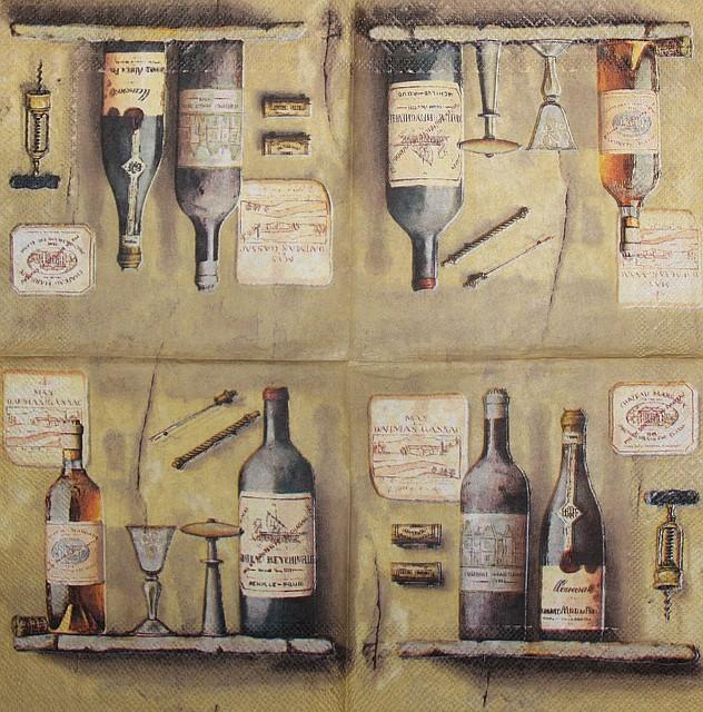 Салфетки декупажные вино 967