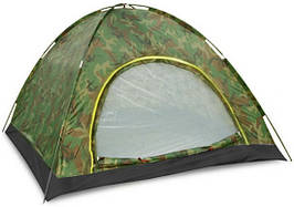 Палатка 2-х местная самораскладывающаяся SY-A-34-HG (200x150x110 см, PL, камуфляж)
