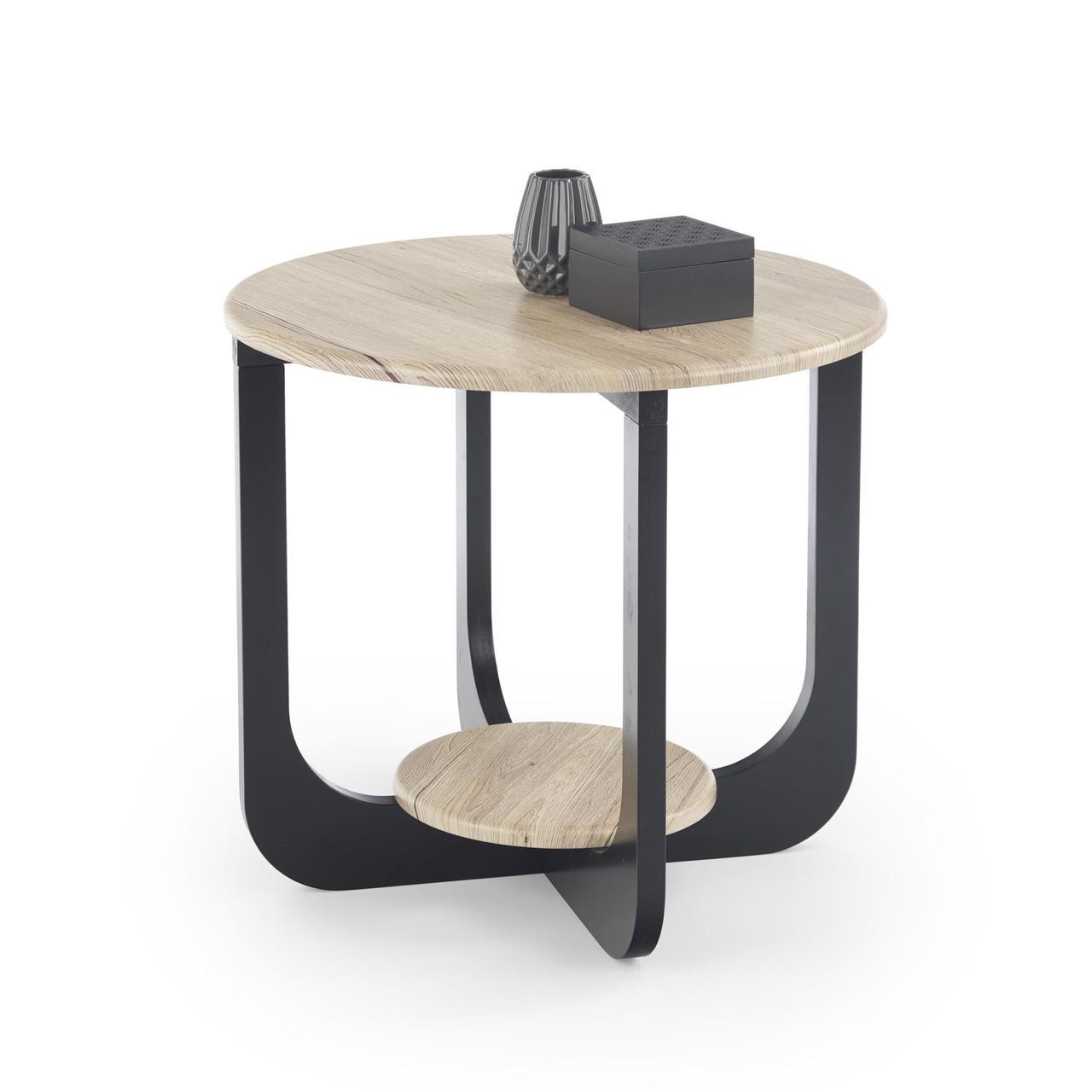 Кофейный столик ODILIA S дуб san remo/черный Halmar