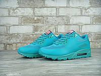 Кроссовки женские Nike Air Max 90 Hyperfuse реплика ААА+ размер 36-37 бирюзовый (живые фото)