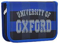 Пенал твердый одинарный с двумя клапанами Oxford