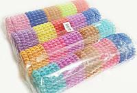Набор разноцветных резинок пружинок для волос 100 шт
