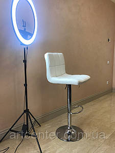 Стул для визажиста, стул для бара, стул для администратора, стул для кассира, хокер (Даниэль белый)