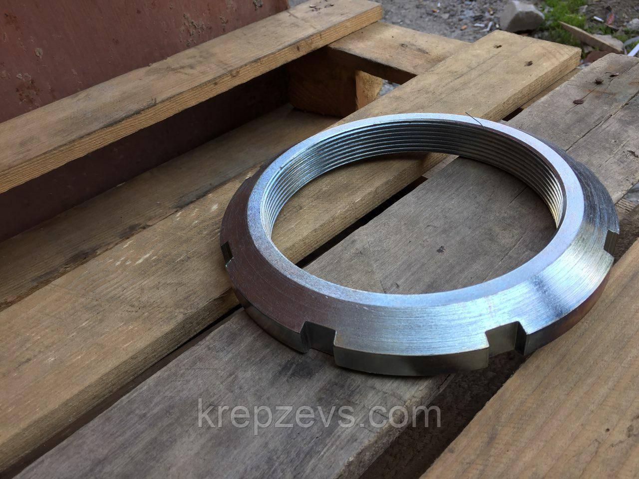 Гайка М27 круглая шлицевая ГОСТ 11871-88, DIN 981