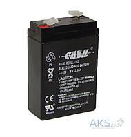 Аккумулятор свинцовый Casil 6V - 2,8 Ah CA 628 66х33х96