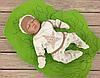"""Трикотажный набор для новорожденного  """"Ты есть, и это Счастье"""" из трьох предметов 56 р. (шоколад)"""