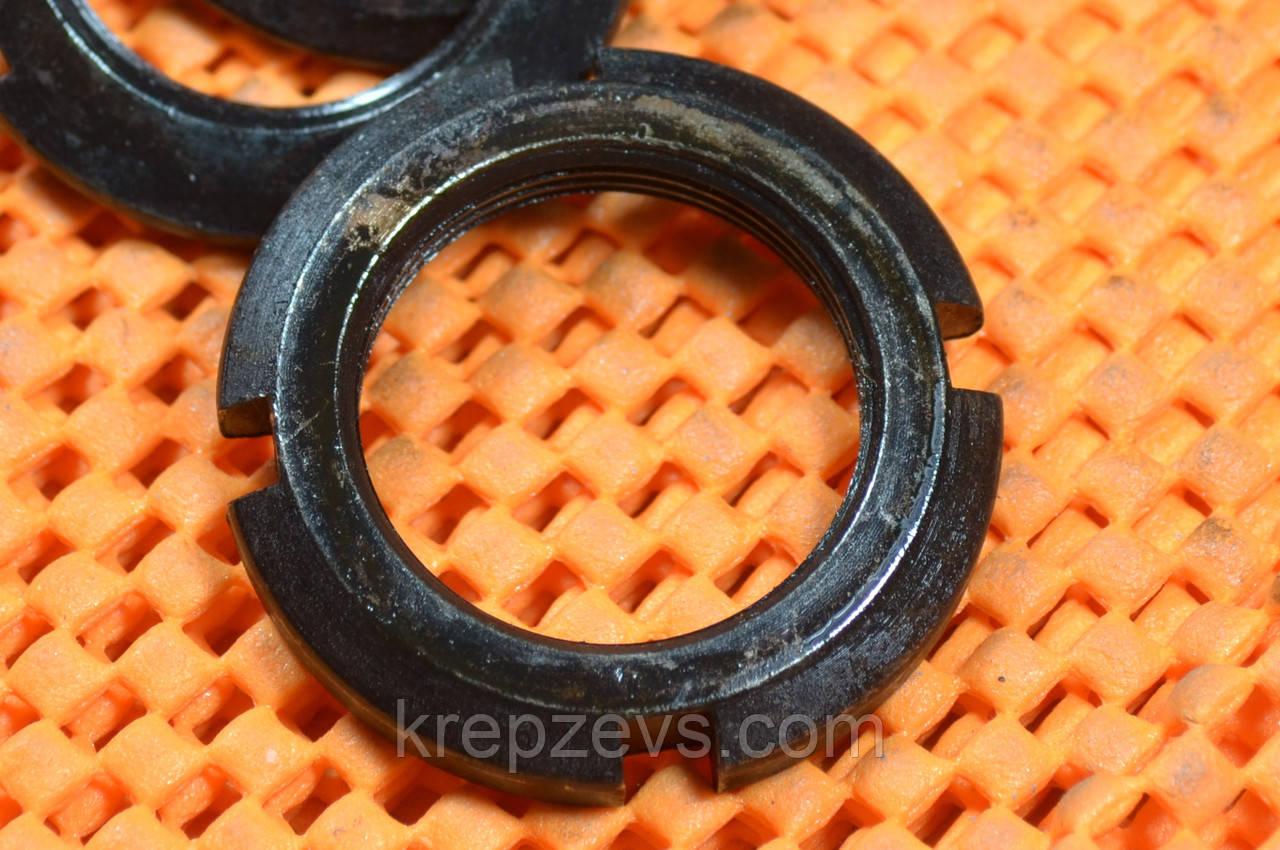 Гайка М33 круглая шлицевая ГОСТ 11871-88, DIN 981