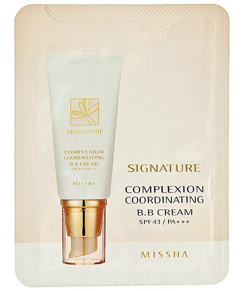 Missha BB крем Пробник Белый Signature Complexion Coordinating BB Cream white 1ml