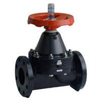 Мембранный клапан фланцевое соединение  PVC/PVC/EPDM DN80 (d.90 mm) ESLON