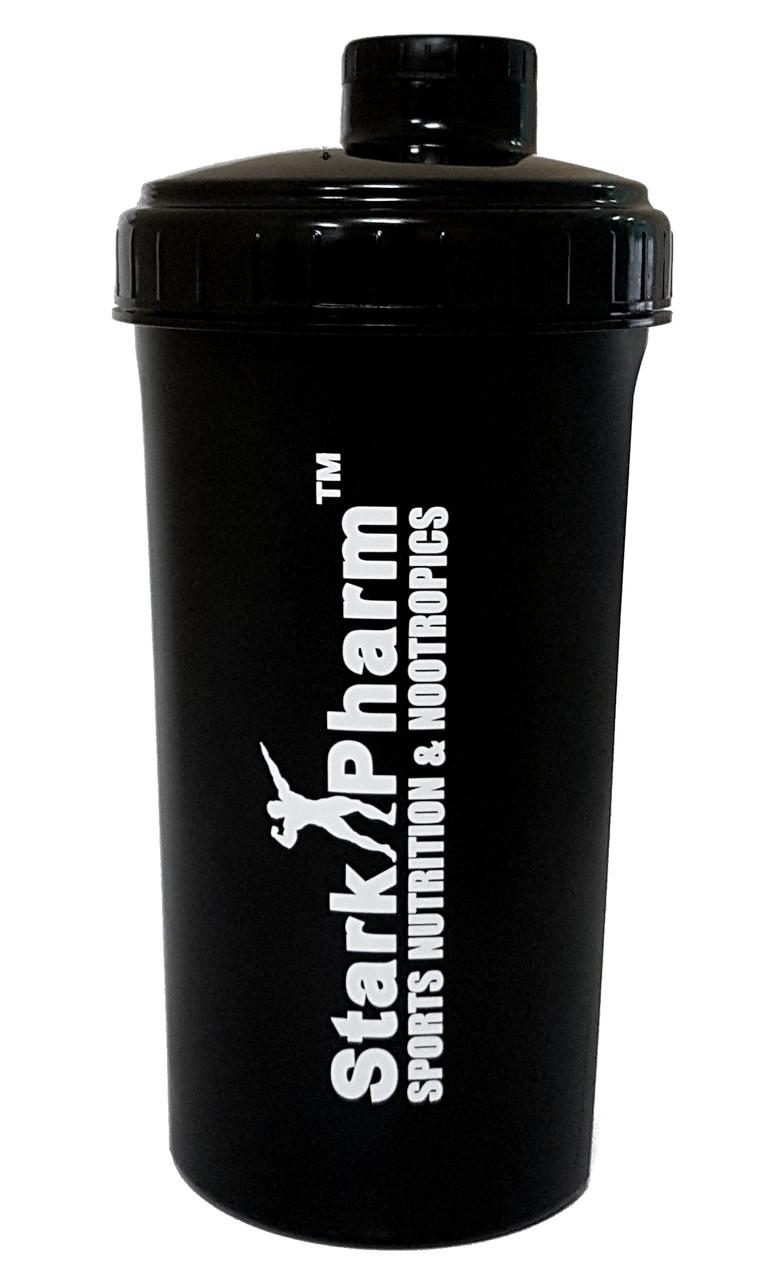 Шейкер классический Stark Pharm - Shaker (700 мл) (с сеточкой) пластик, (700 мл), Украина, black/черный