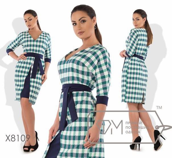 Стильное женское платье ткань *Костюмная* б 54 размер батал