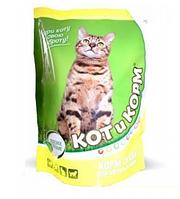 Корм для кошек КотиКорм для взрослых умеренно активных и пассивных кошек с курицей, 10 кг