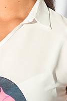 Блузка женская стильная 459F001-4 (Молочный)