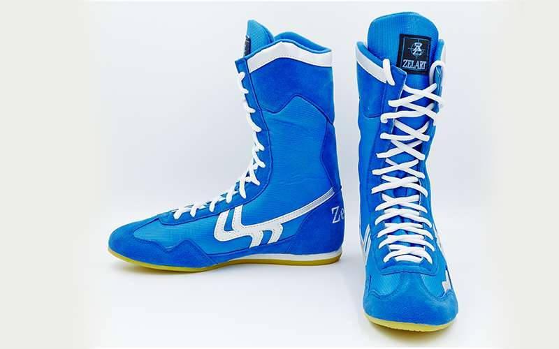 Обувь для бокса (боксерки) Zelart замшевые р-р35-38