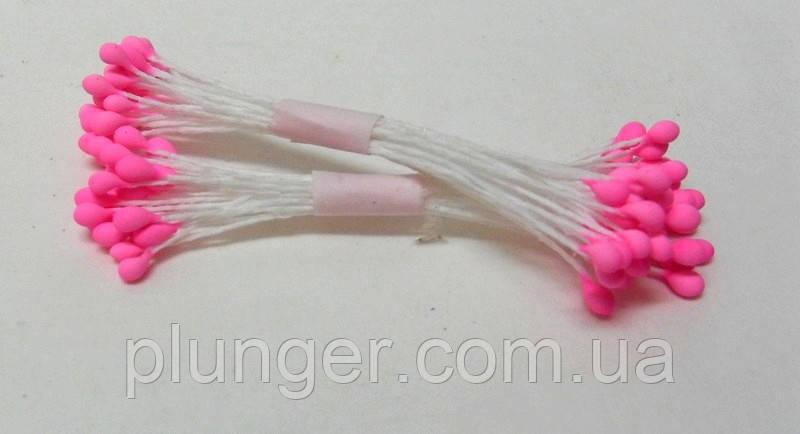 Тычинки круглые розовые для создания цветов