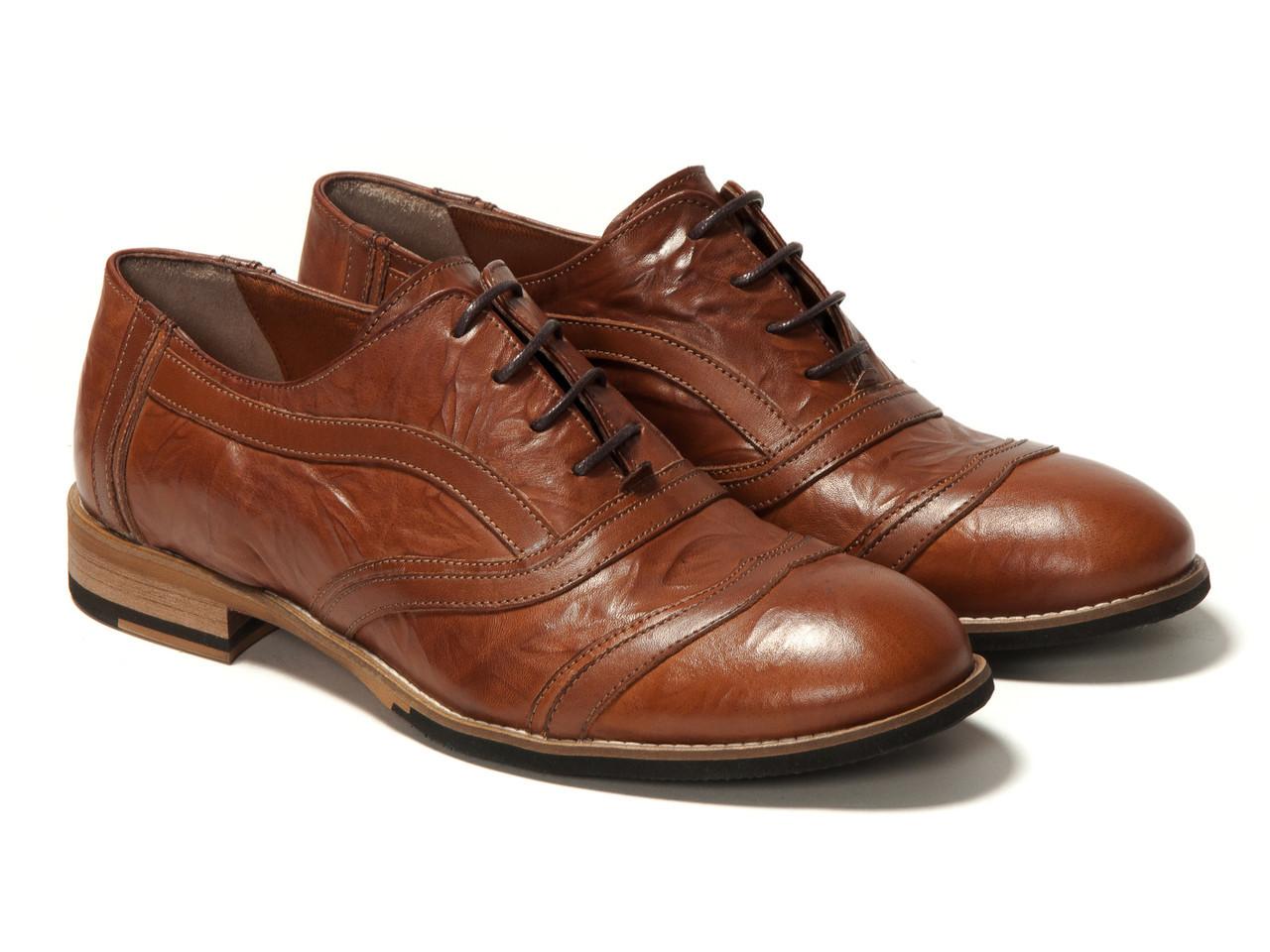Оксфорды Etor 11479-8462 45 коричневые