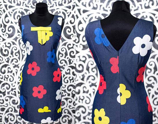 """Летнее женское платье """"Стрейч-коттон"""" 44 размер норма, фото 2"""