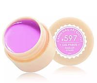 Гель-краска CANNI 597 (пастельный, темно-розовый), 5 мл