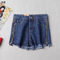 Жіночі модні джинсові шорти з змійками