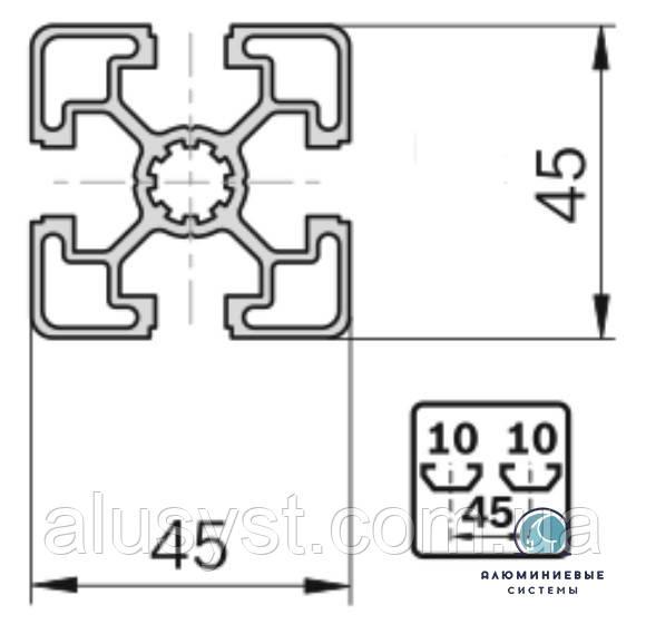 Станочный профиль ЧПУ станка| анод , 45х45