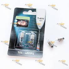 "Лампа автомобільна T4 12V 4W-1 BA9S БЛУ (2 шт.) ""Tes-lamps"""