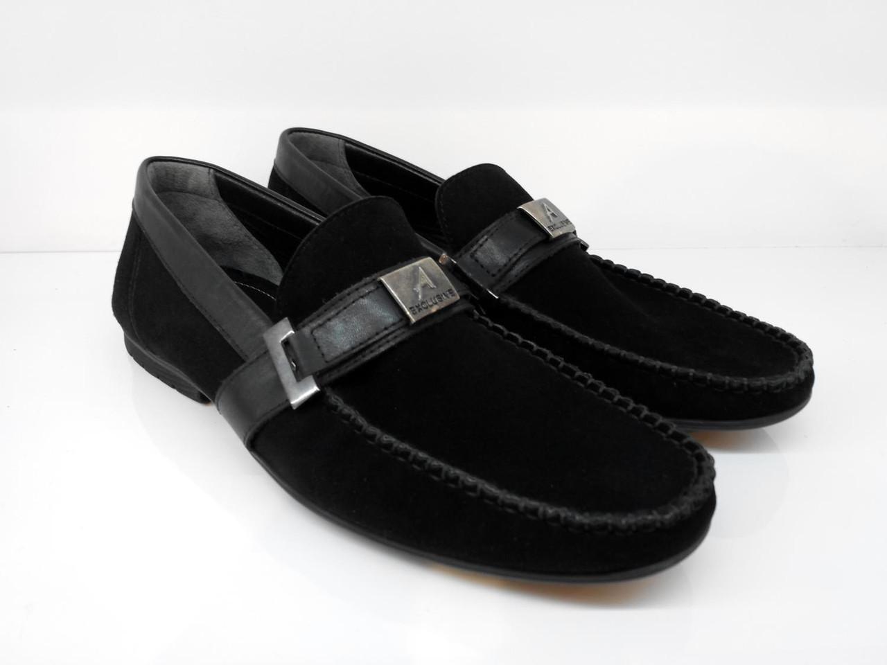 Мокасины Etor 10593-5074 44 черные