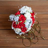 Букет-дублёр для невесты в красных тонах (арт. BD-005)