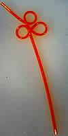 Трубочка пластиковая коктейльная без изгиба с кругами оранжевого цвета L 250 мм (уп 10 шт)