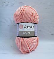 Пряжа для ручного вязания YarnArt Dolce цвет 764, плюшевая пряжа для вязания пледов и игрушек, детская пряжа